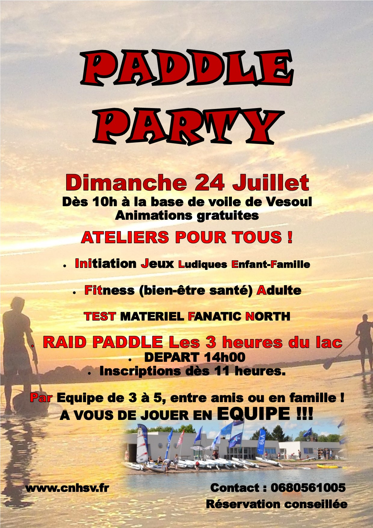 Affiche Paddle Party