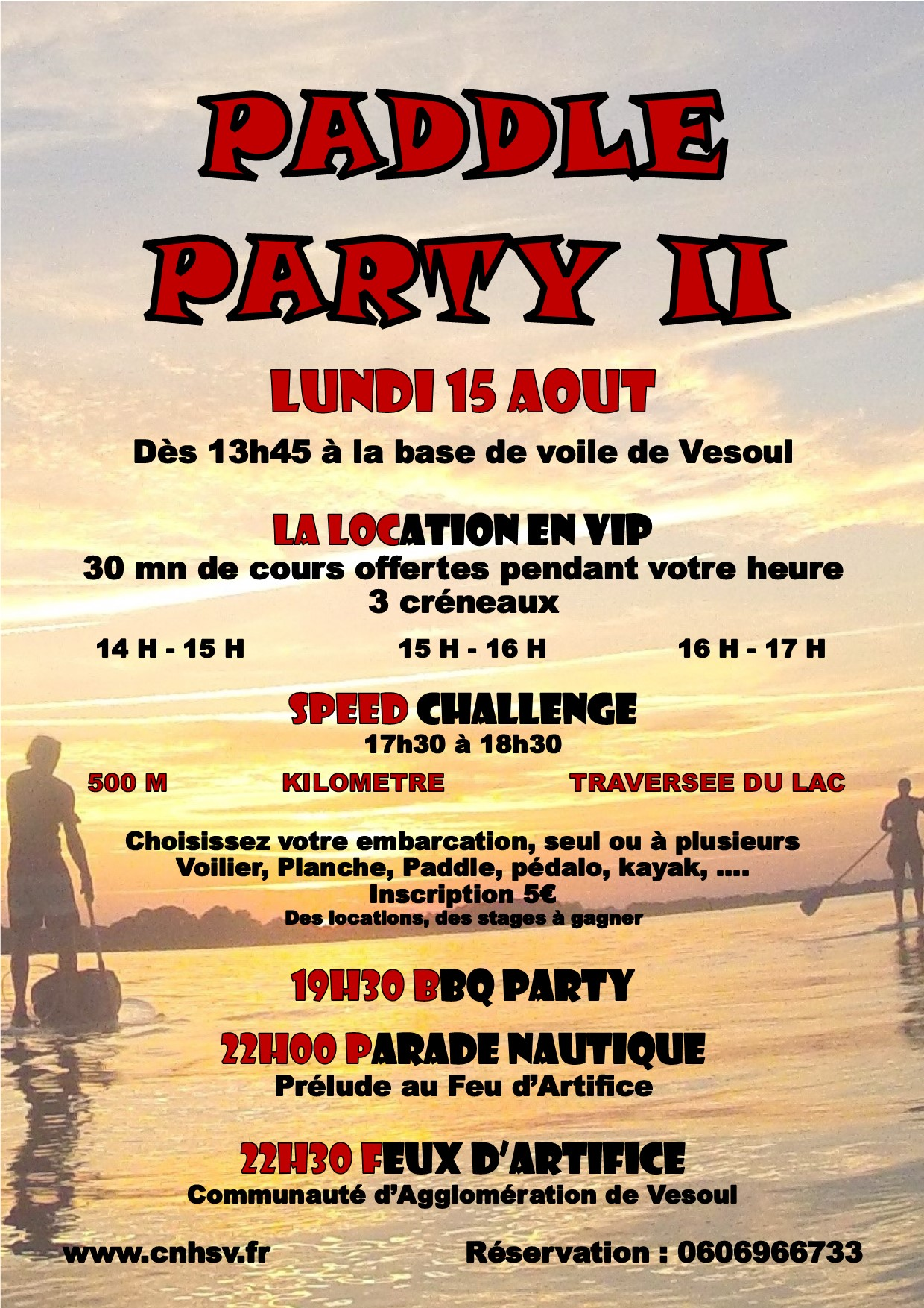 Affiche Paddle Party 15 août